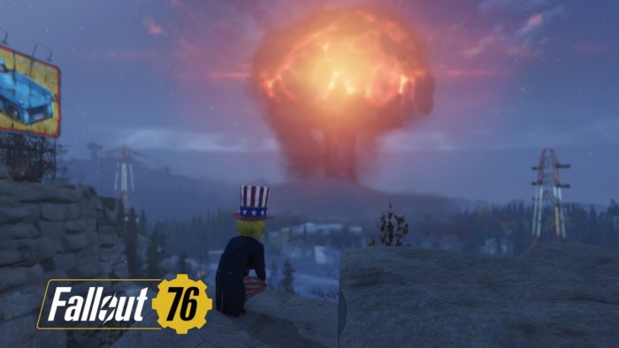 Fallout76 核爆発