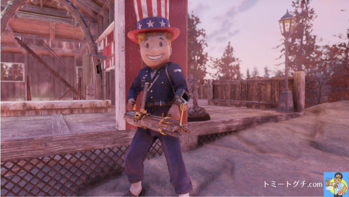 Fallout76 ガトリングガン