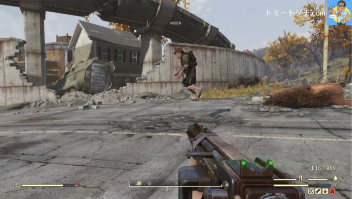 Fallout76 浮遊グール