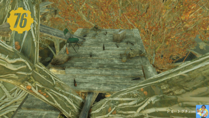 Fallout76 酔っぱらい狙撃手の隠れ木