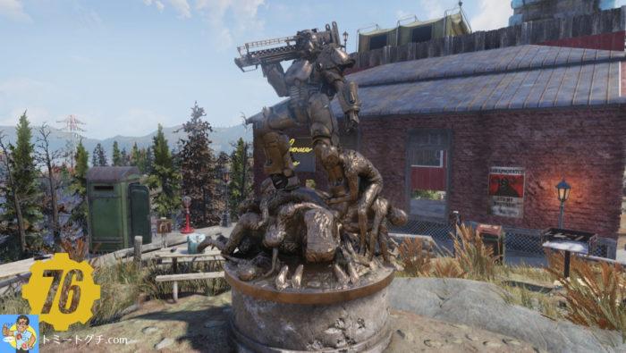 Fallout76 ウェイストランドの英雄の像