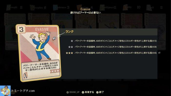 Fallout76 不屈ビルド