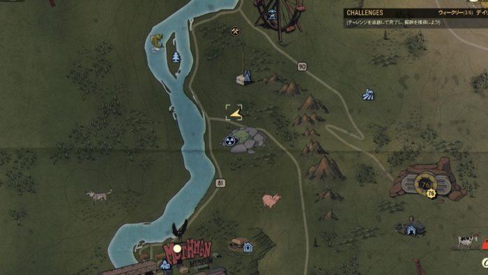 Fallout76 ブラックマウンテン兵器工場 ドーム7 地図