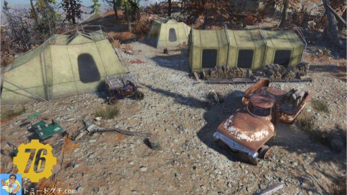 Fallout76 シルヴィ&サンズ・ログキャンプ