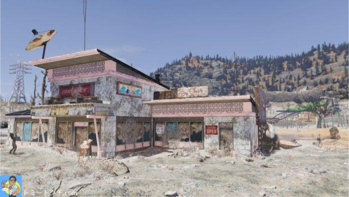 Fallout76 有毒の干上がった湖底