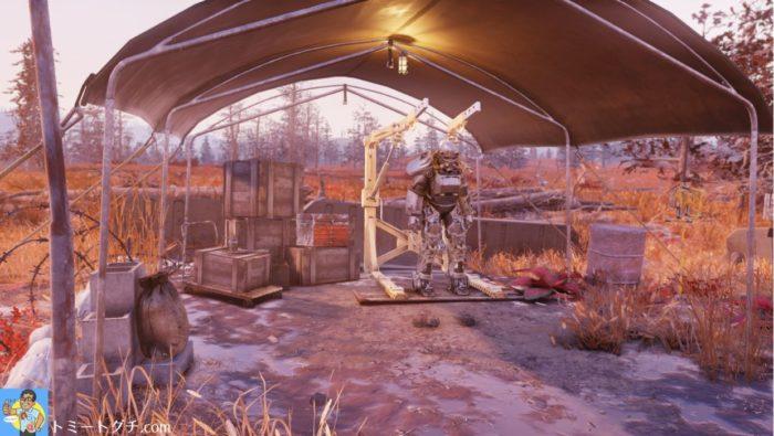 Fallout76 調査キャンプアルファ