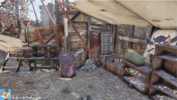 Fallout76 カットスローツのキャンプ(北)