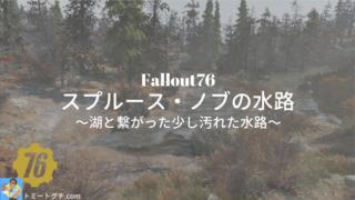 Fallout76 スプルース・ノブの水路