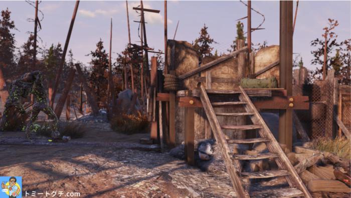 Fallout76 セネカギャングのキャンプ