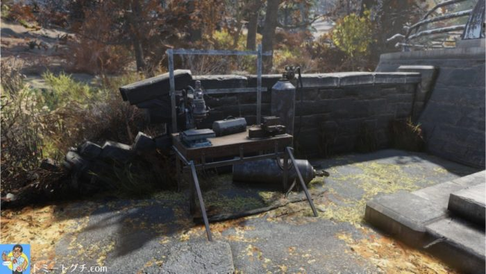 Fallout76 鉱山労働者記念碑