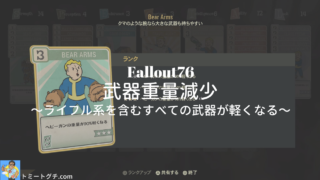 Fallout76 武器重量減少