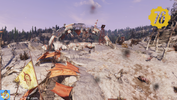 Fallout76 Wastelanders クレーター