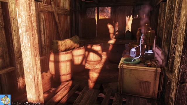 Fallout76 密造酒業者の小屋